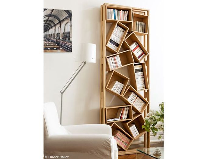 Biblioth ques design nos 11 solutions pr f r es elle d coration - Bibliotheque contemporaine en bois design ...