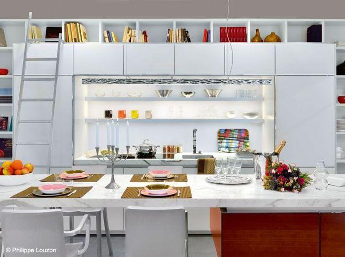 Cuisine des rangements beaux et pratiques elle d coration for Art et decoration cuisine