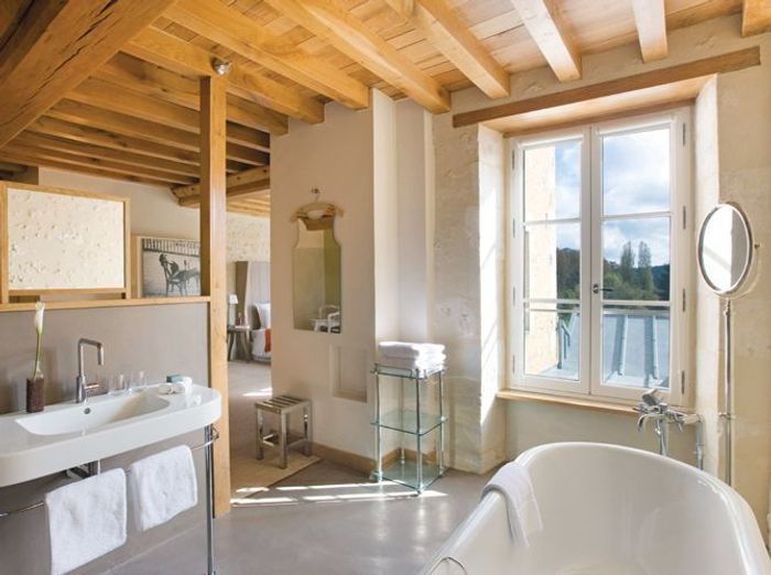 Tendance les salles de bains l 39 ancienne elle d coration - Lavabo salle de bain style ancien ...