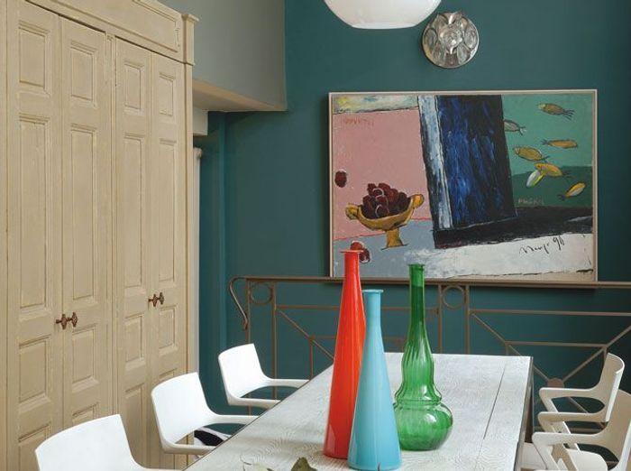 Peinture associez les couleurs et les mati res elle for Peinture gris turquoise
