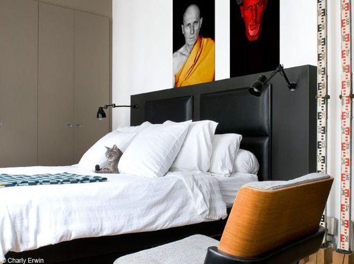 Chambre tete de lit noire