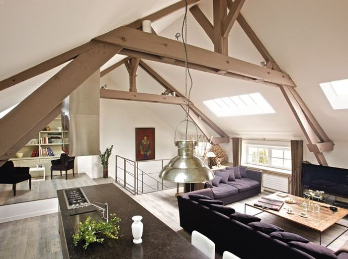 Un loft dans une grange elle d coration for Photo de loft renover