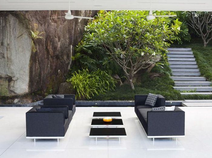 Un salon de jardin design elle d coration for Decoration jardin exterieur design