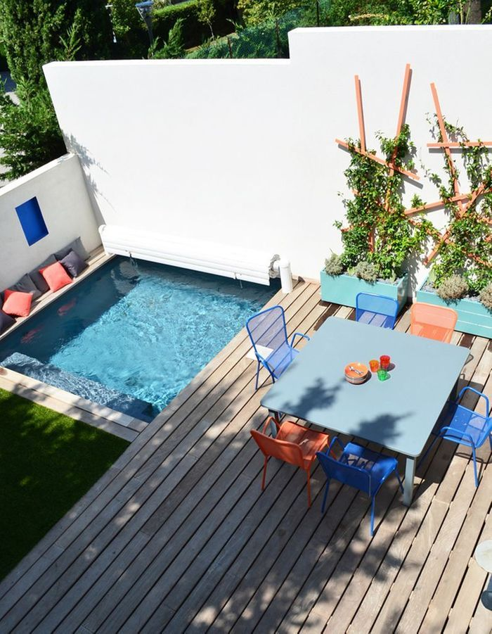 Les mini jardins vont adorer ces petites piscines elle for Piscine les angles