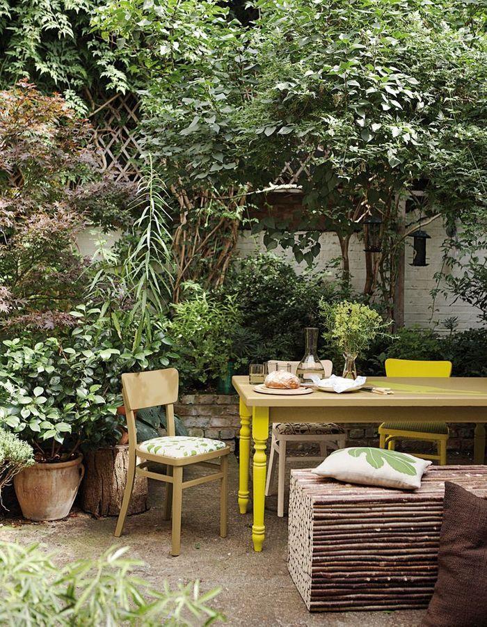 Un terrasse zen à l'esprit campagne