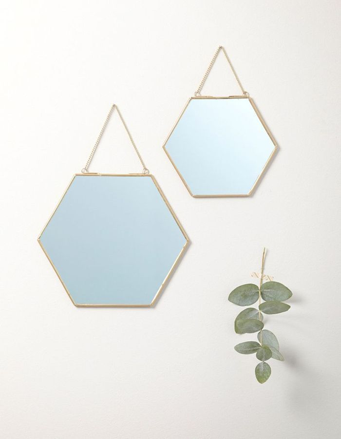 Petit miroir doré Cyrillus