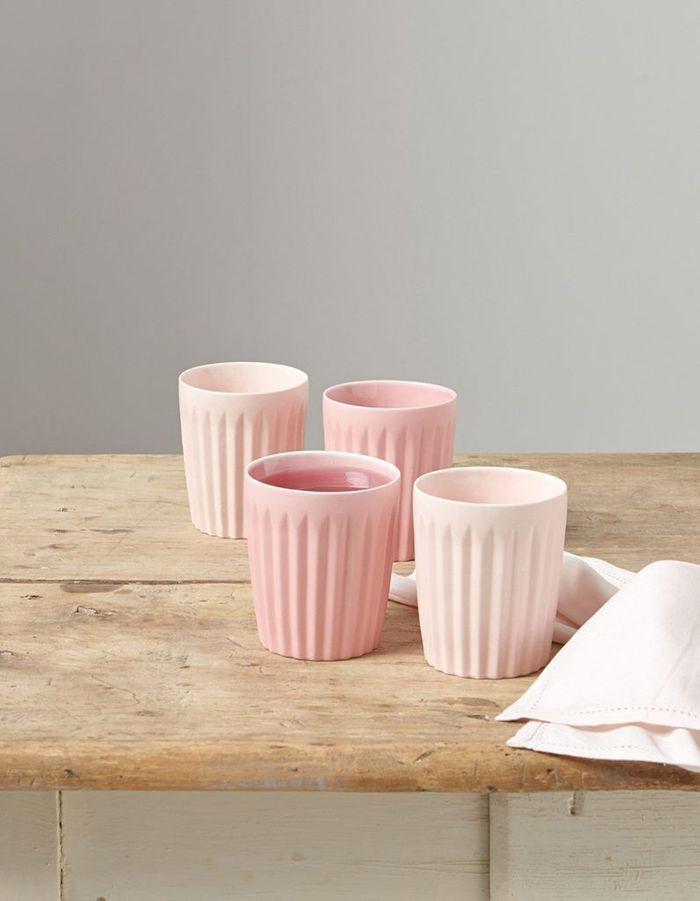 Tasse rose en céramique Cyrillus