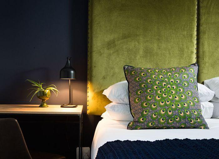 Tête de lit verte