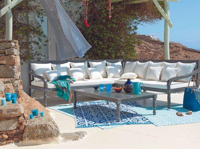 Le turquoise le bleu qu 39 on adore elle d coration for Terrasse exotique et depaysante