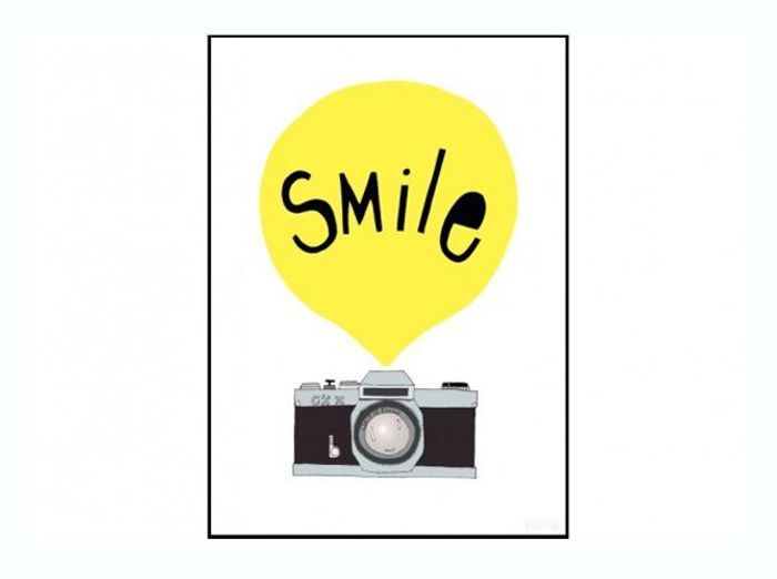 Poster graphique smile good object