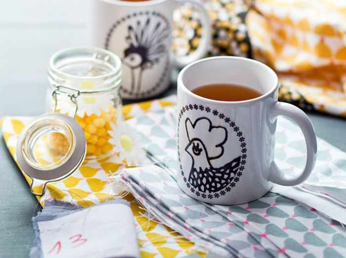 Deco poule mug