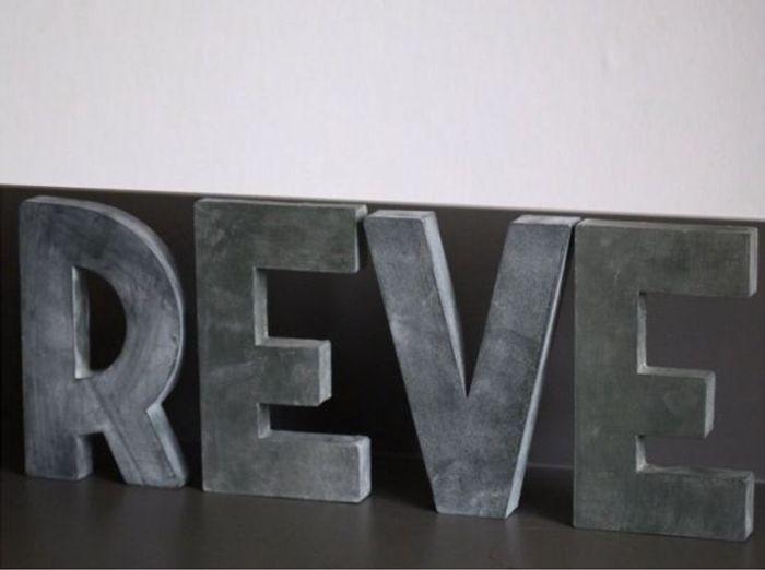 Lettres Decoration Zinc : Vous avez un message elle décoration