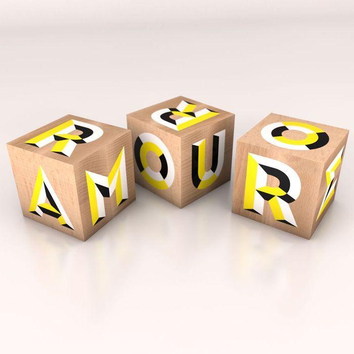 Cube en bois The Wooden Cube chez Fleux
