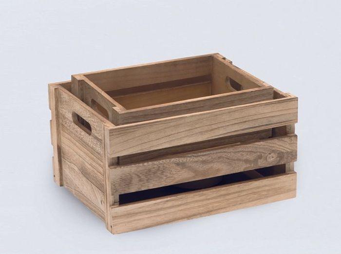 Des caisses en bois comme rangement