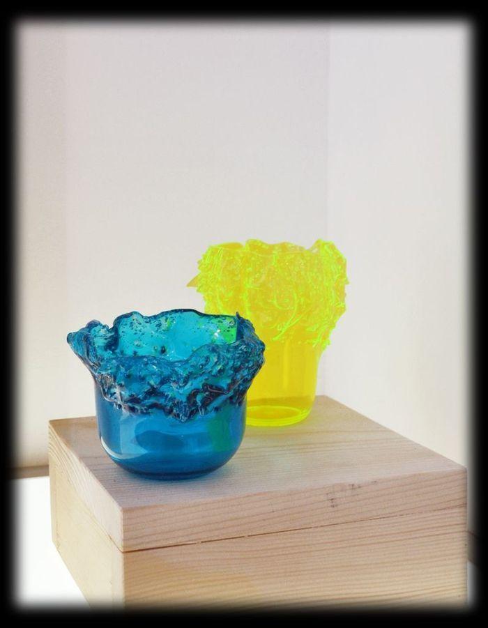 Vases en verre soufflé  Sabatina Leccia