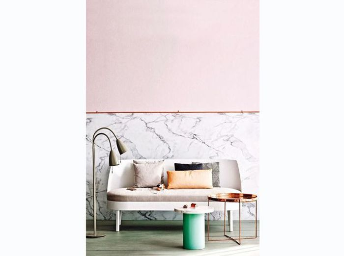 Salon rose et marbre ultra tendance