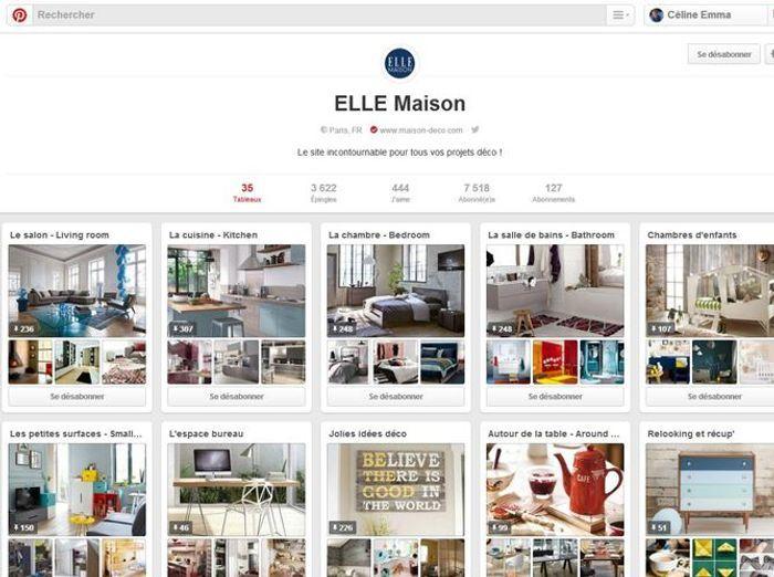 6   Pinterest Page ELLE Maison