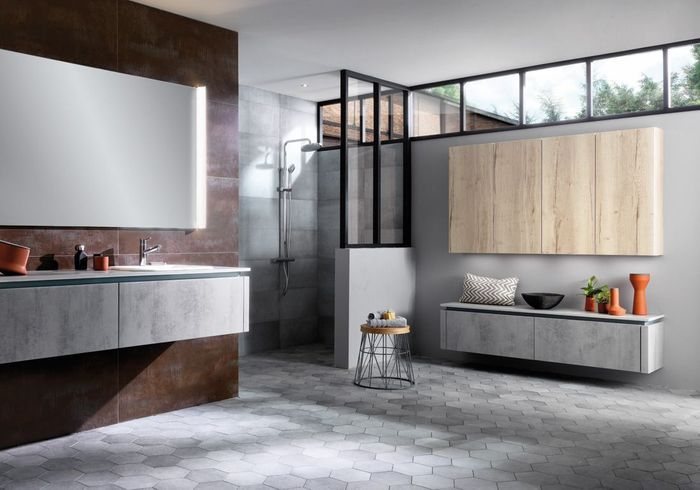 15 salles de bains grises pour trouver la v tre elle d coration. Black Bedroom Furniture Sets. Home Design Ideas