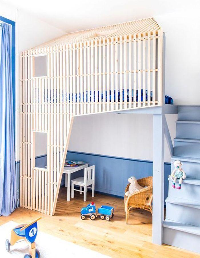 Une chambre d'enfant zen via un lit cabane