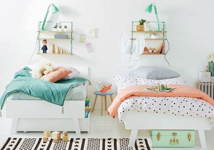 Beautiful chambre pour deux filles contemporary for Amenager une petite chambre pour deux filles