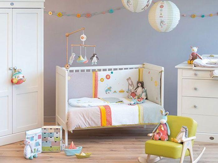 D co sans clich pour chambre de b b elle d coration for Decoration pour chambre de bebe