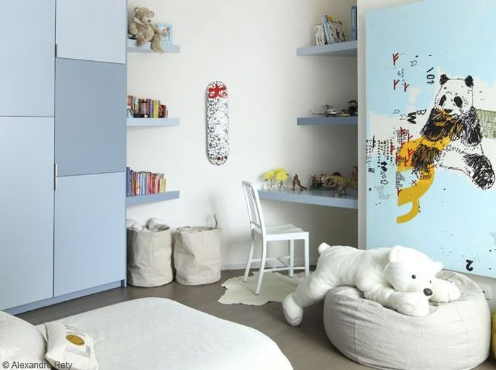 Chambres de gar on 40 super id es d co elle d coration for Chambre de bebe garcon deco
