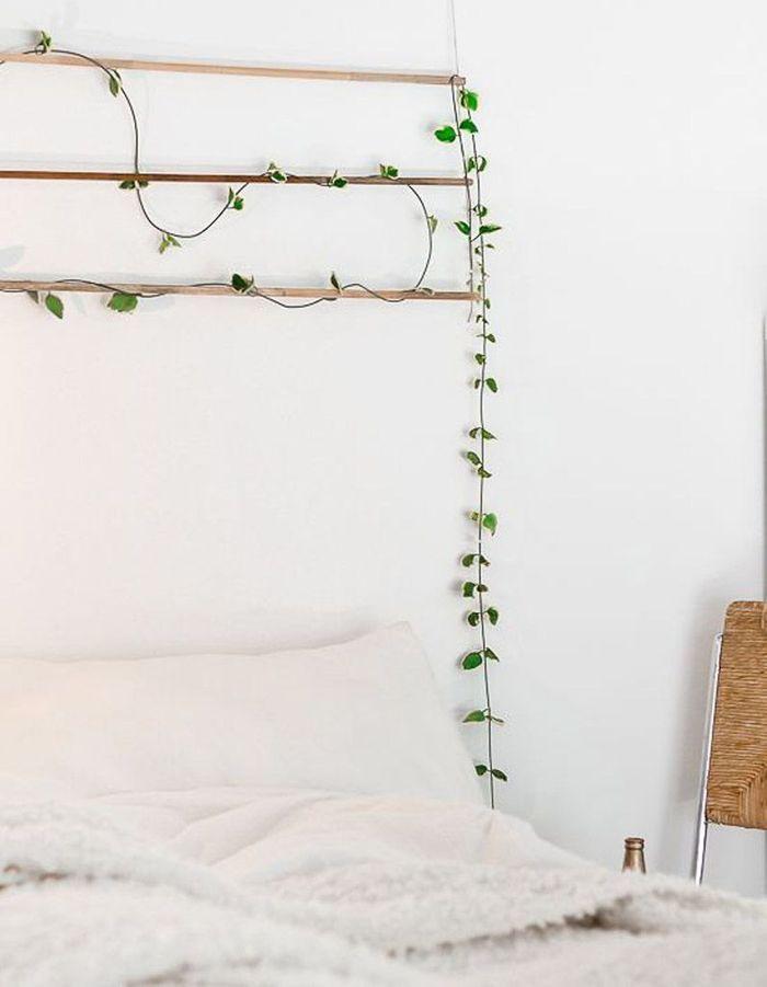 T te de lit 25 id es pour une t te de lit originale for Decoration murale pour tete de lit