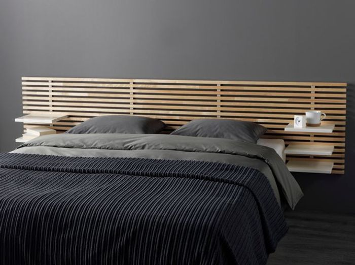 t te de lit en bois peindre. Black Bedroom Furniture Sets. Home Design Ideas