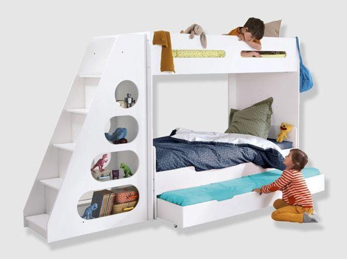 Un lit mezzanine évolutif avec escalier design