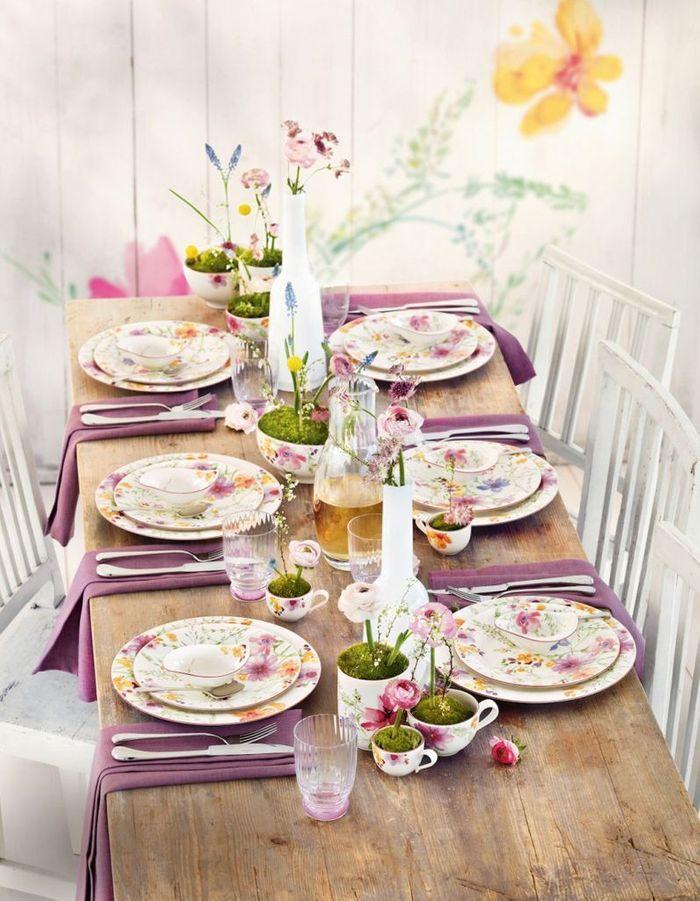 Une déco de table d'été champêtre