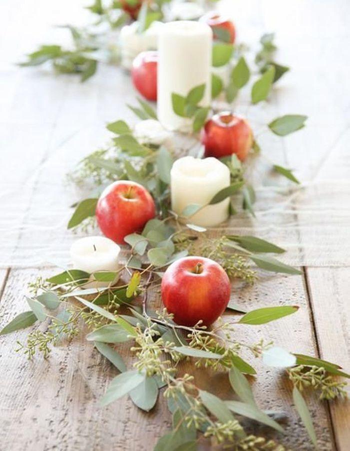 Décoration de table hiver : pensez un chemin de table mettant en scène vos fruits