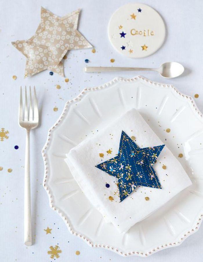 Décoration de table hiver : cousez des étoiles en tissu