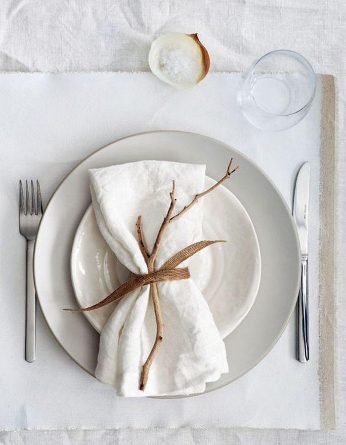 D coration de table d 39 hiver nos meilleures id es de d co for Decoration porte hiver