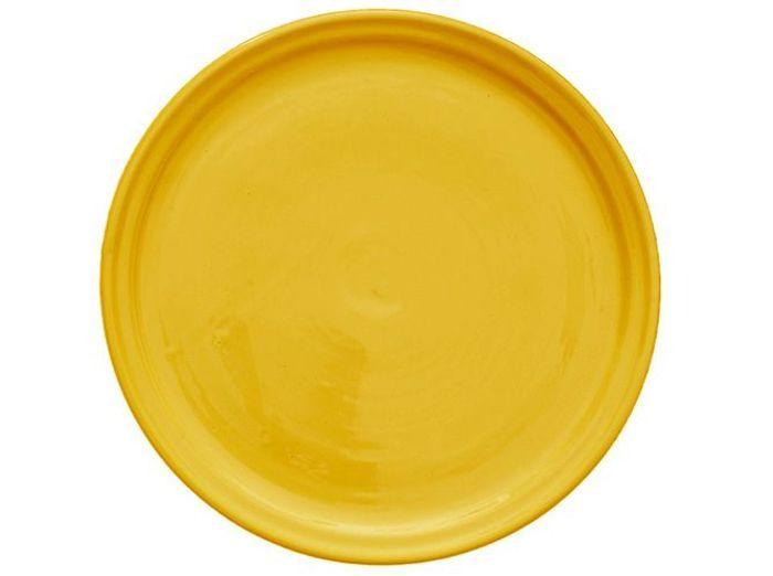 assiette jaune miel
