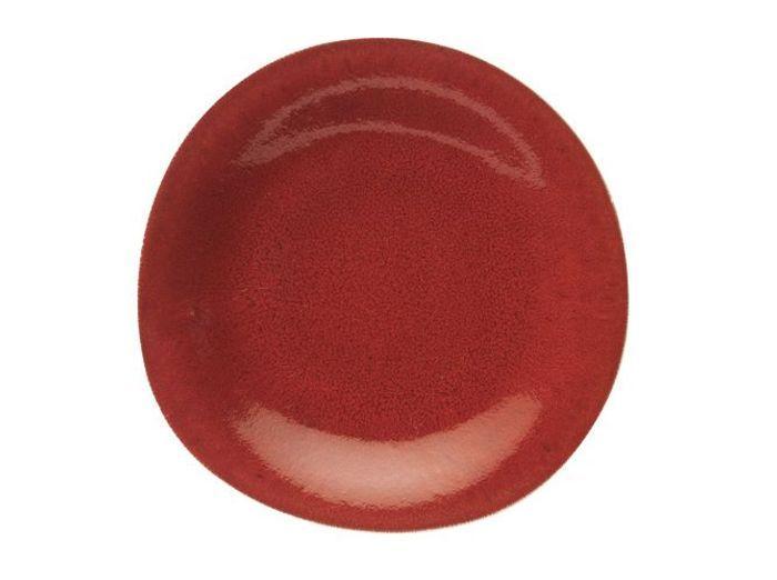 assiette rouge