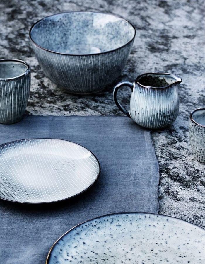 Vaisselle en céramique bleue Broste Copenhagen