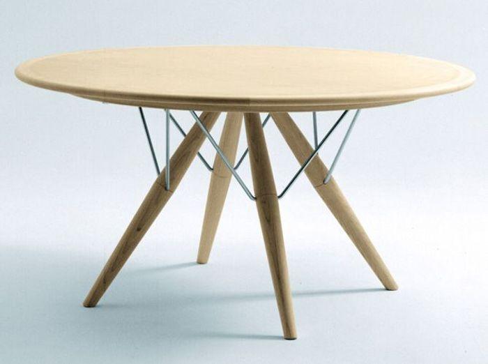 Table de cuisine ronde avec rallonge for Table rallonge scandinave