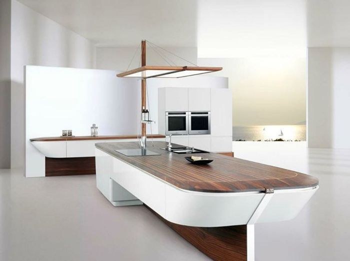 Une cuisine design pour un int rieur contemporain elle for Cuisines contemporaines design