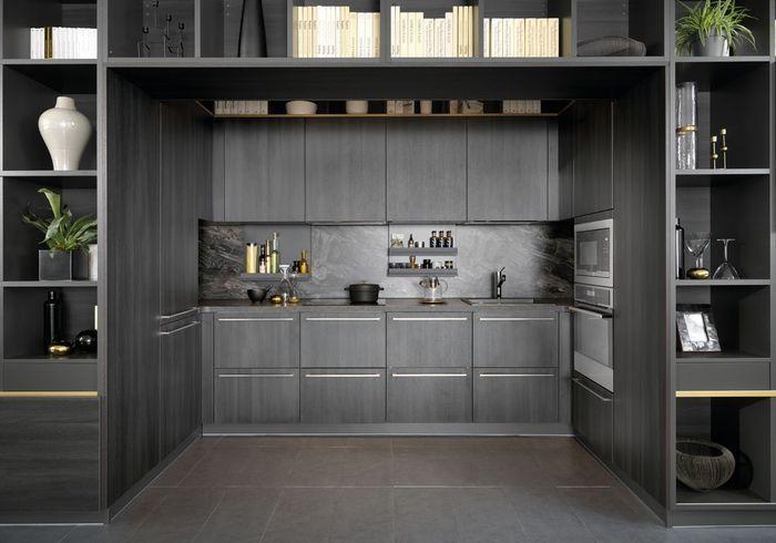 Une cuisine design qui se fond dans le décor