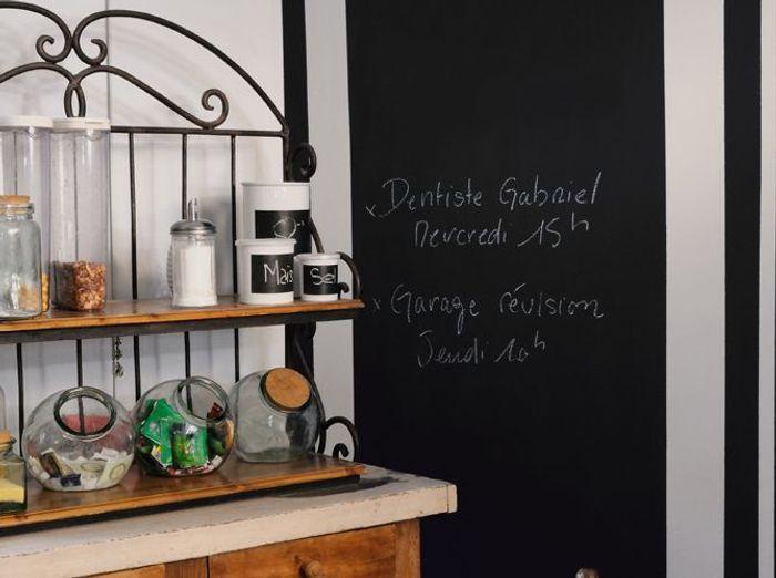 beautiful choisir une peinture ludique with tableau ardoise deco cuisine. Black Bedroom Furniture Sets. Home Design Ideas