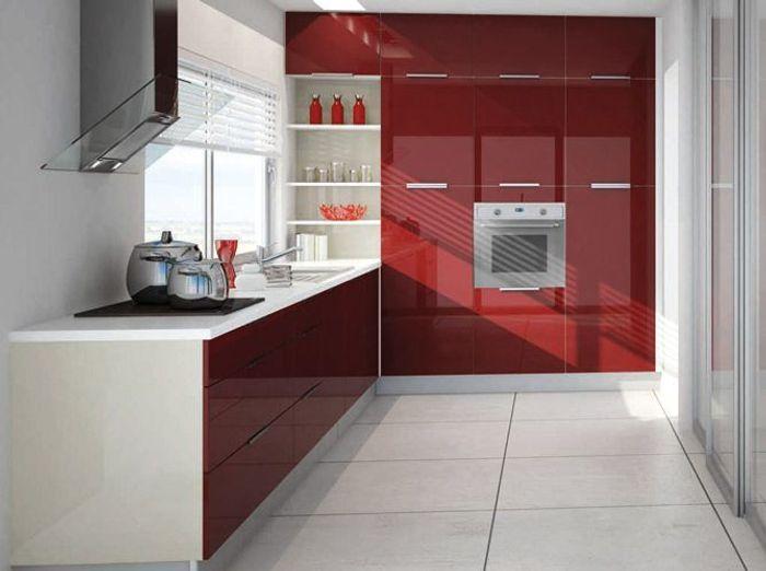 Pleins feux sur la cuisine rouge elle d coration for Model de petite cuisine equipe