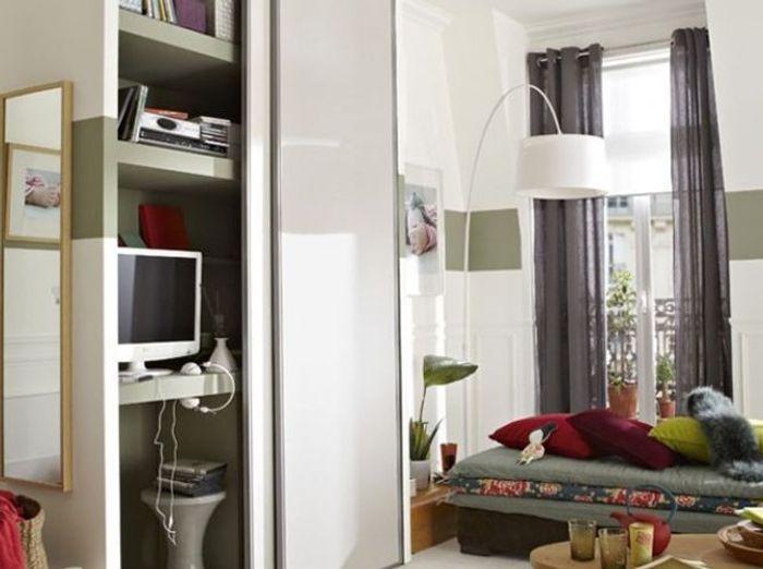bureau cach dans une armoire perfect chambre dune adolescente moderne avec armoire et bureau. Black Bedroom Furniture Sets. Home Design Ideas