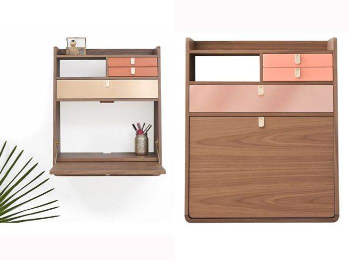 40 meubles super pratiques pour gagner de la place elle d coration for Secretaire meuble habitat