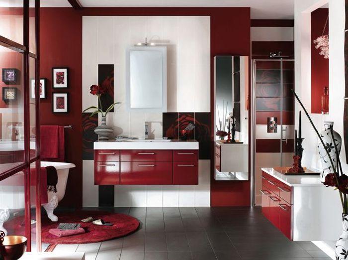des salles de bains spéciales femmes - elle décoration - Salle De Bain Rouge Et Beige