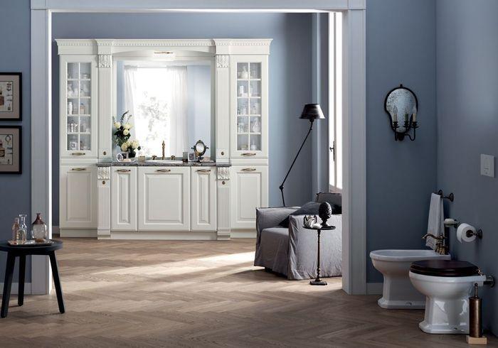 Salle de bains bleue Scavolini