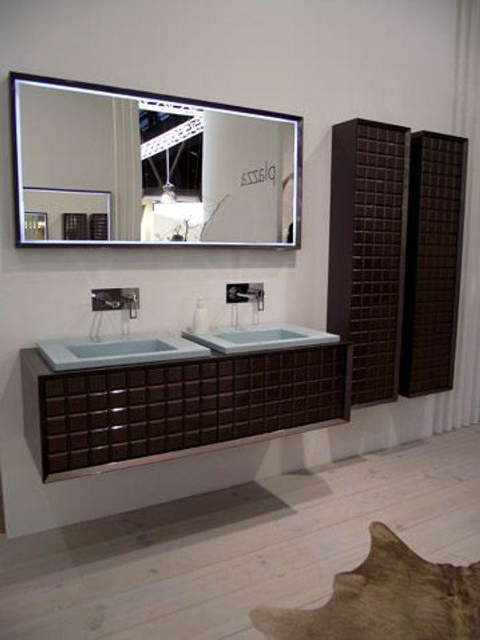 Ideo bain 2012 nos coups de coeur elle d coration for Accessoire salle de bain marron