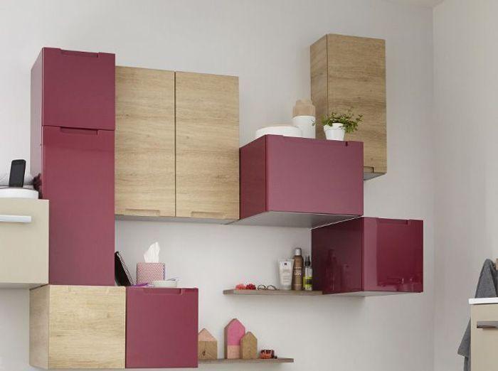 Petit meuble salle de bains notre s lection elle d coration - Combinaison murale design ...