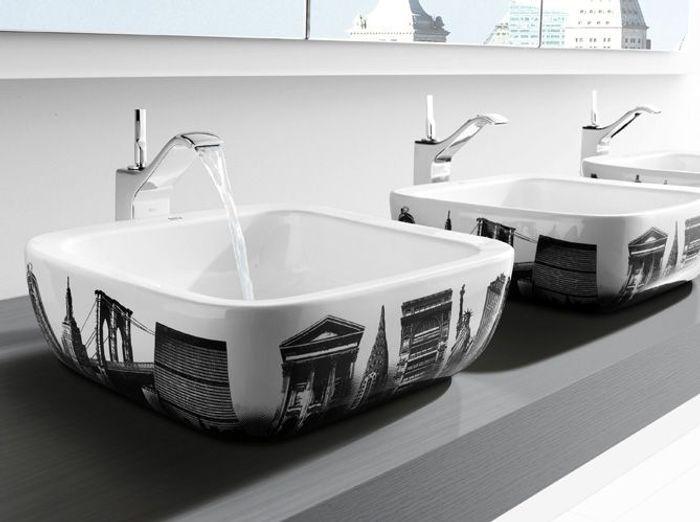 Id es d co relookez vos toilettes elle d coration for Idees deco toilettes photos