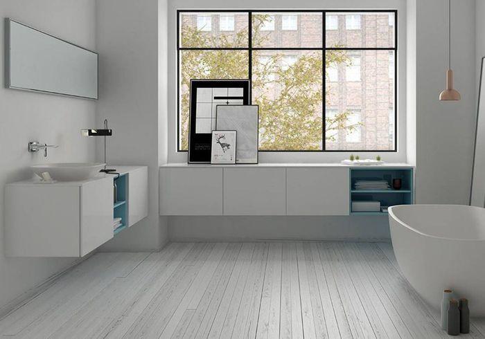 Salle de bains design immaculée