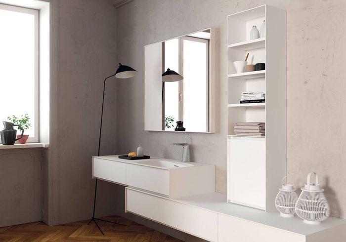 Salle de bains design juste ce qu'il faut